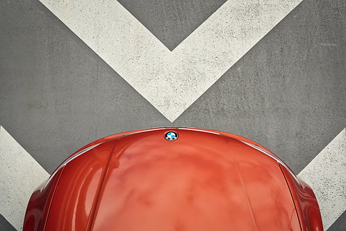 BMW 1M.  A frameless print on aluminium dibond.