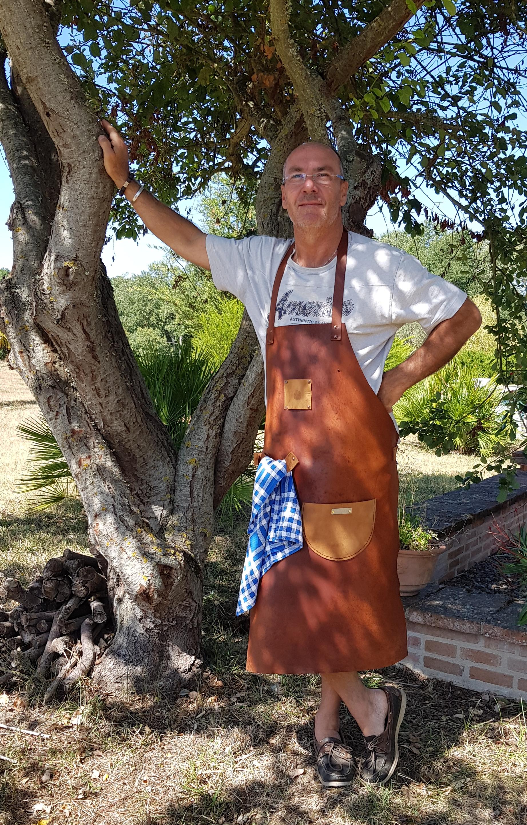 Tablier cuir Plancha/Barbecue