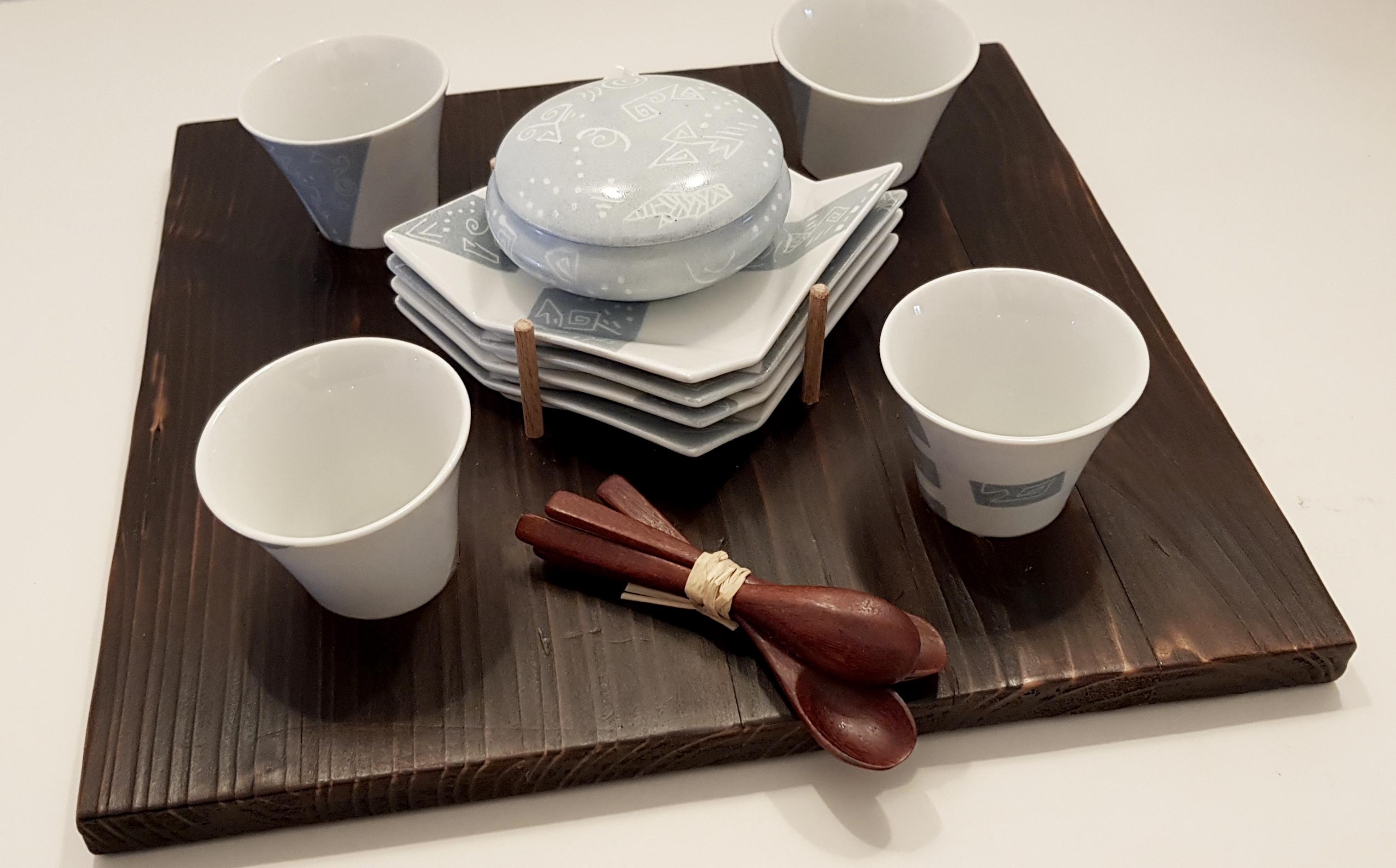 Prêt-à-servir Quatro Shou-Sugi-Ban
