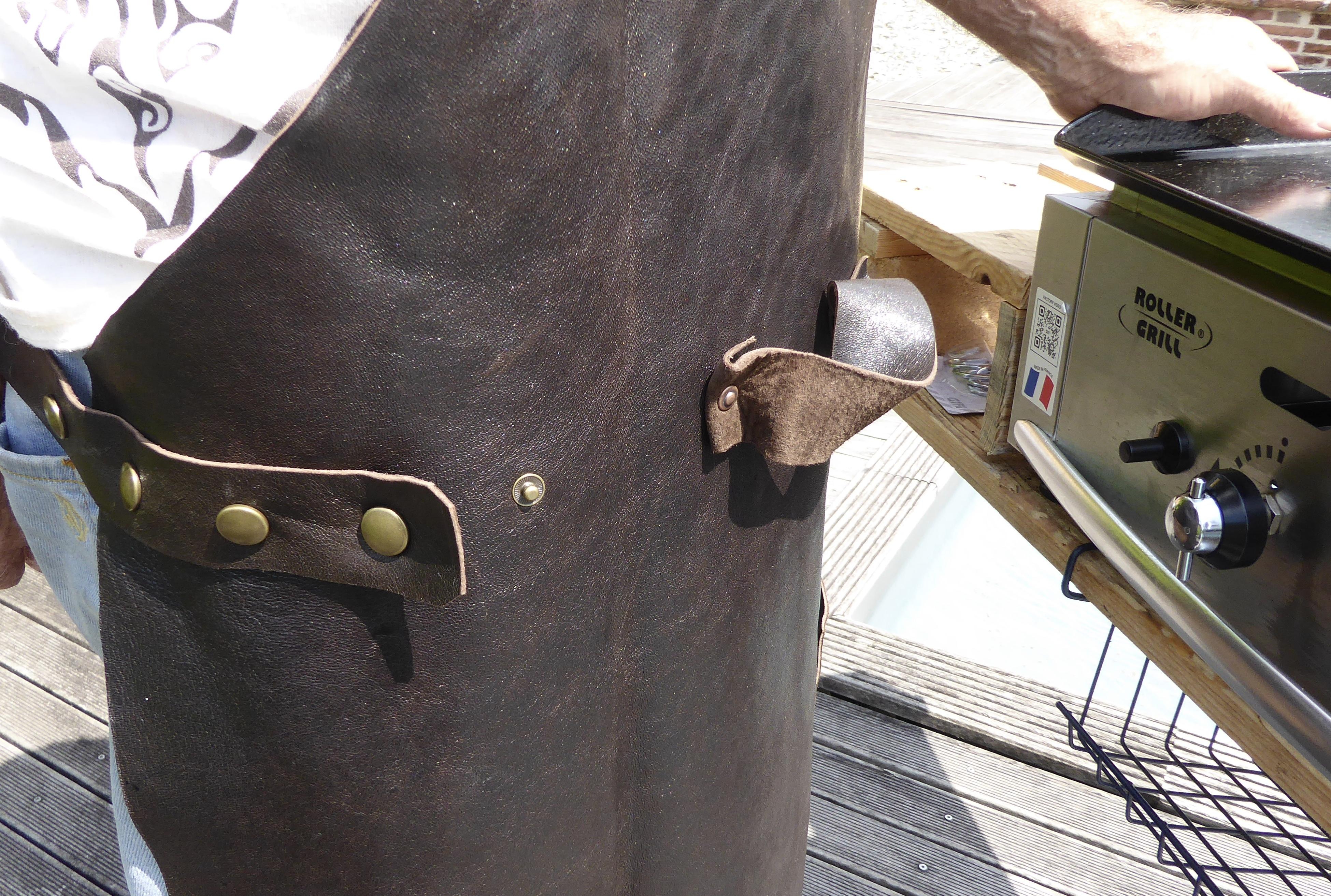 Tablier cuir Plancha & Barbecue
