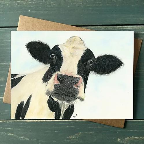 'Moo' A6 Greetings Card