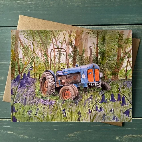 'Fordson Major' A6 Greetings Card