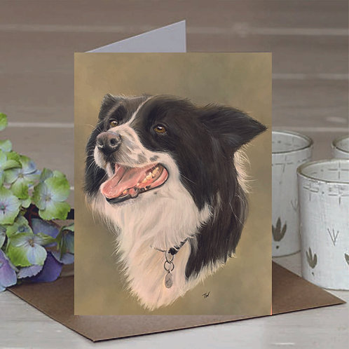 'Roxy' The Border Collie A6 Greetings Card