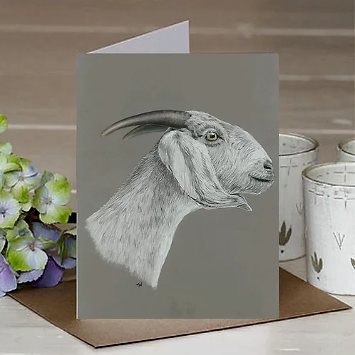 'The Goat' A6 Greetings Card