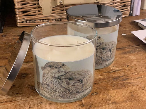 Embracing Otters - Luxury Pomegranate Candle