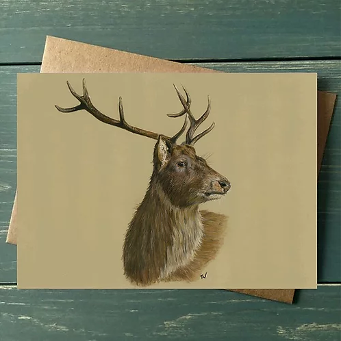 'The Stag' A6 Greetings Card