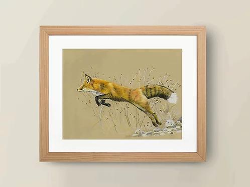 A4 'The Leaping Fox' Giclée Print