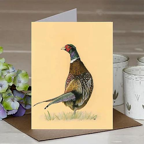 'Wandering Pheasant' A6 Greetings Card