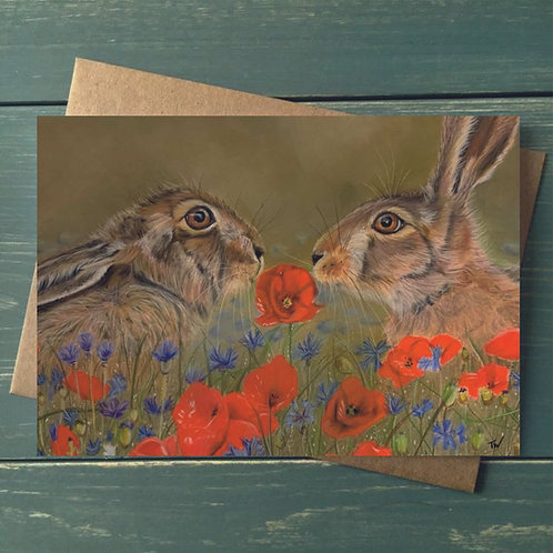 A6 'Love is in the Hare' Greetings Card