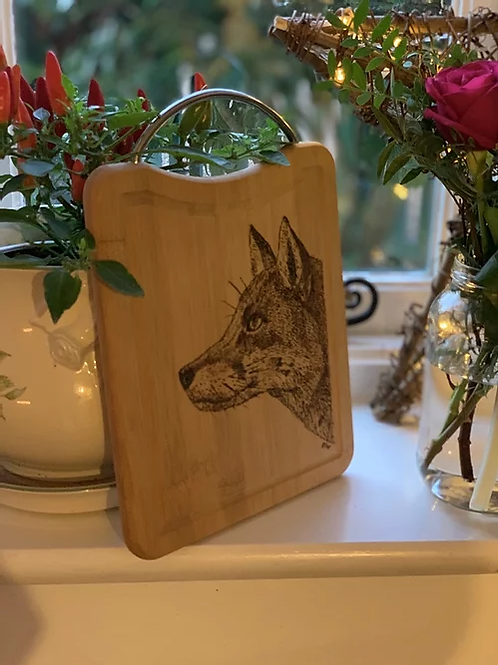 Bamboo Fox Serving Board