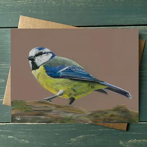 'Blue Tit' A6 Greetings Card