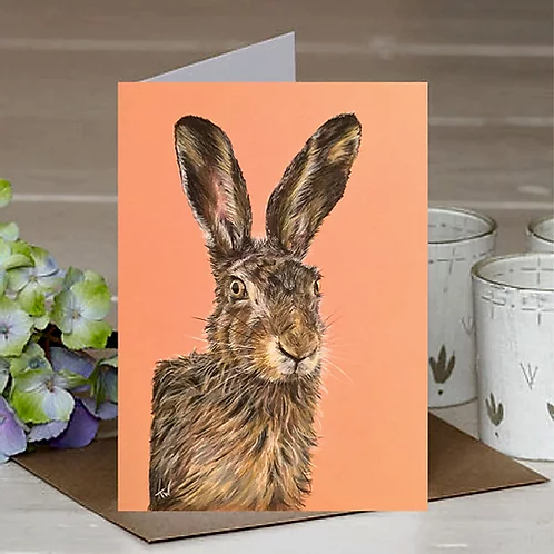 'The Rufty Tufty Hare' A6 Greetings Card