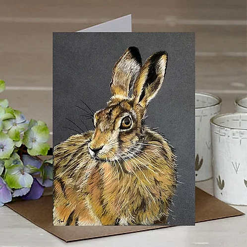 'The Wise Hare' A6 Greetings Card