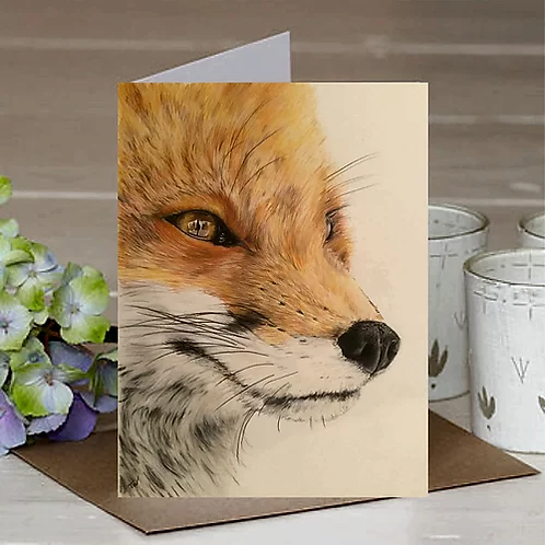 'The Gazing Fox' A6 Greetings Card