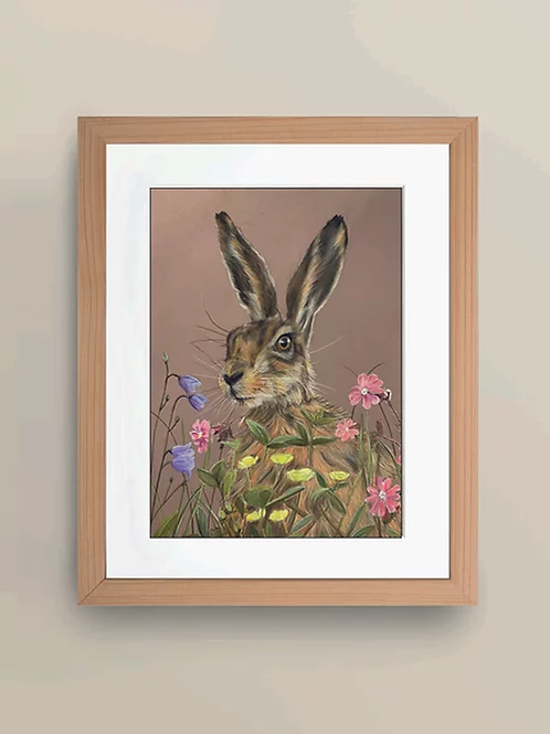 A4 'Meadow Hare' Giclée Print