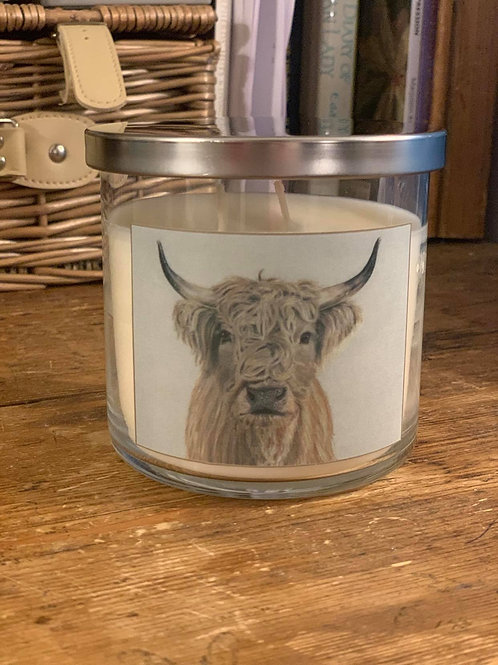 Highland Cow - Luxury Peony Blossom & Suede Candle