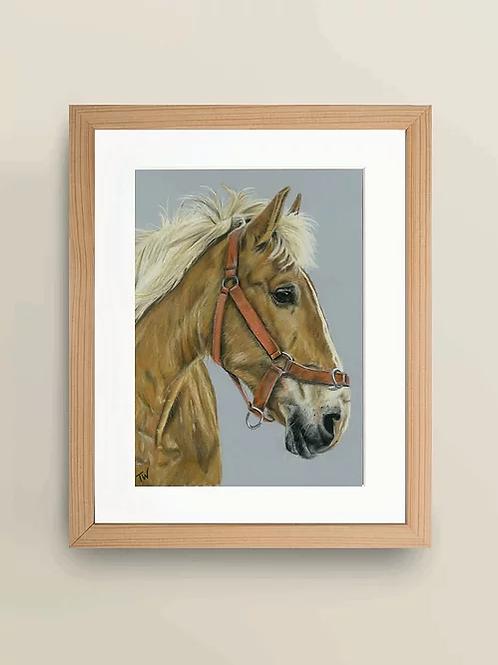 A4 'Tan Horse' Giclee Print