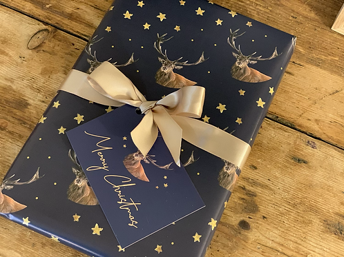 Winter Stag Wrapping Paper