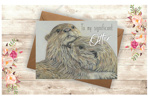 'To my significant Otter' Greetings Card
