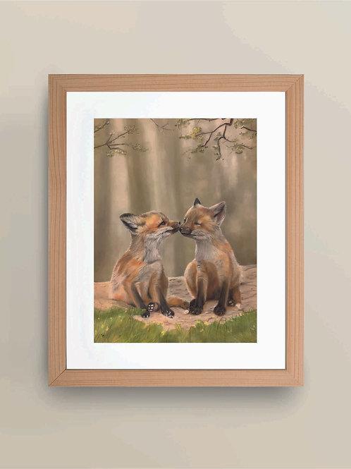 A4 'Sibling Love' Giclee Print