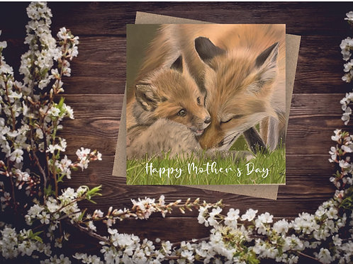 'Motherly Love' Square Mother's Day Card