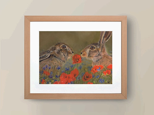 A4 'Love is in the Hare' Limited Edition Giclée Print