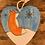 Thumbnail: Hanging wooden heart winter fox