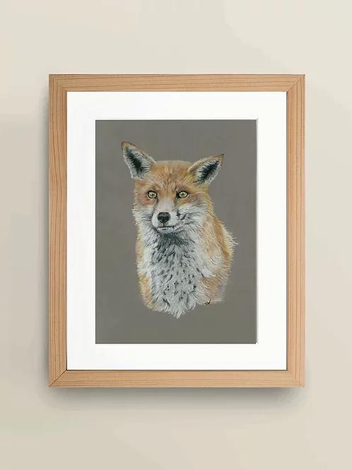 A4 'Waiting Fox' Giclée Print