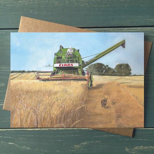 Higher Burton Harvest A5 Greetings Card