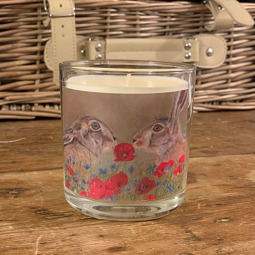Love is in the Hare - Country Cottage Linen Candle