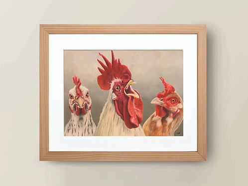 A4 'Hen Pecked' Giclee Print