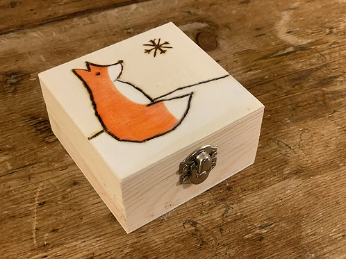 Winter Fox Trinket Box