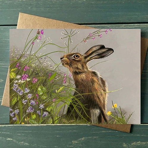 'Time to stop and smell the flowers' A6 Greetings Card