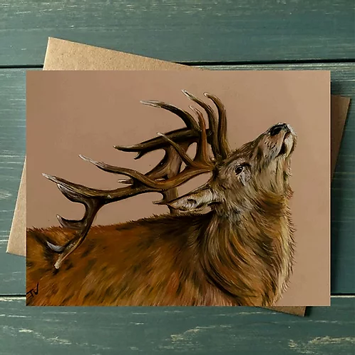 'Summer Stag' A6 Greetings Card