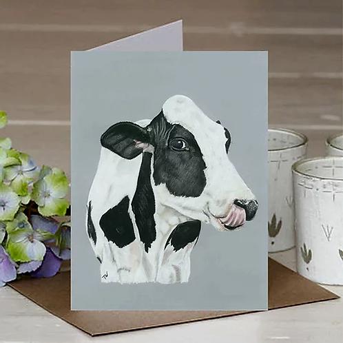 'Daisy Cow' A6 Greetings Card
