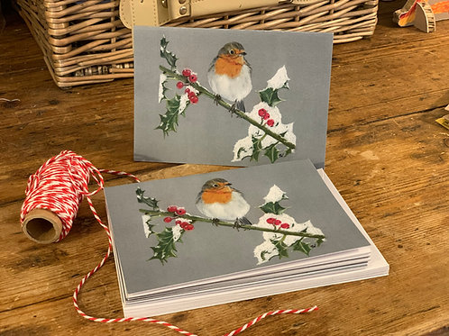 Pack of Ten Robin Christmas Cards