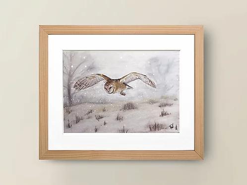 A4 'Winter Owl' Giclée Print