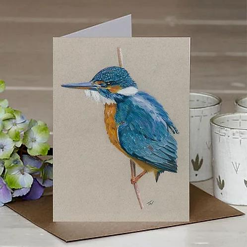 'Kingfisher' A6 Greetings Card