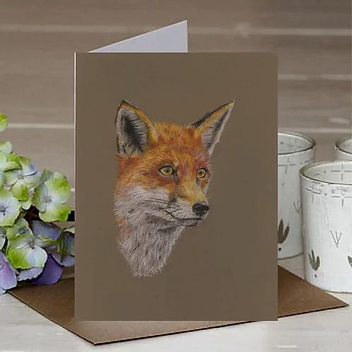 'The Fox' A6 Greetings Card