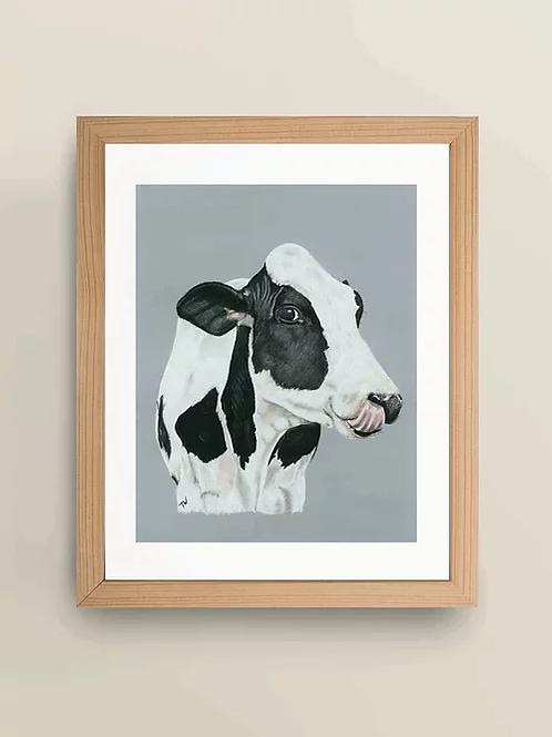 A4 'Daisy Cow' Giclée Print