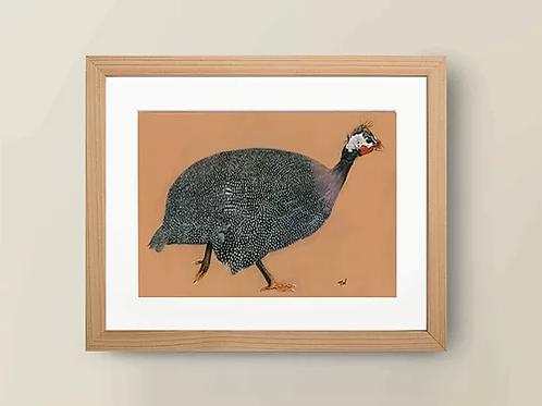 A4 'Guinea Fowl' Giclée Print