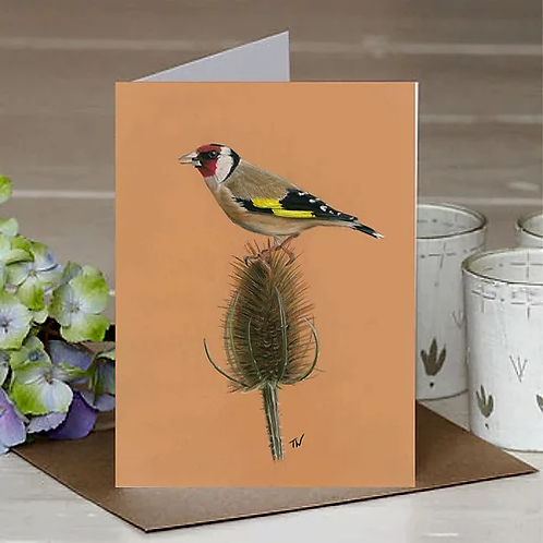 'Goldfinch' A6 Greetings Card
