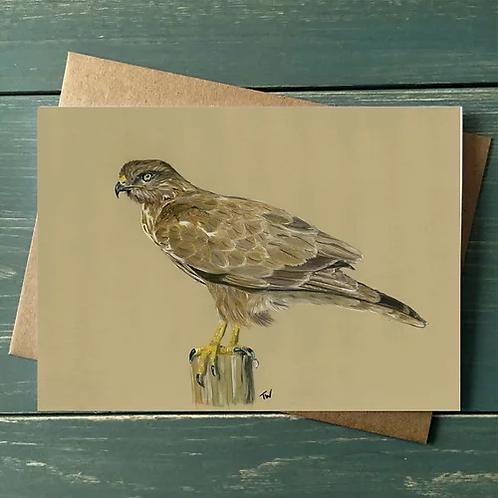 'Buzzard' A6 Greetings Card