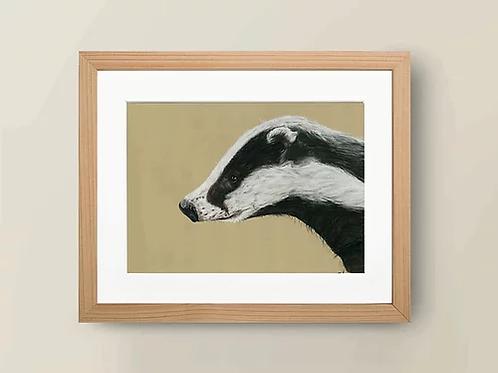 A4 'The Badger' Giclée Print