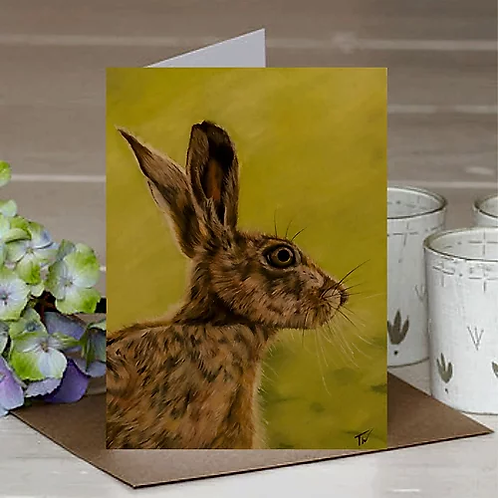 'Summer Hare' A6 Greetings Card