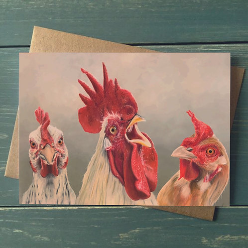 A6 'Hen Pecked' Greetings Card