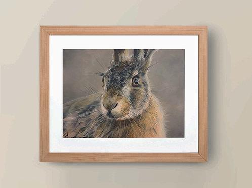 A4 'November Hare' Giclee Print