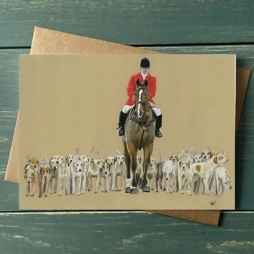 'The Hunt' A6 Greetings Card