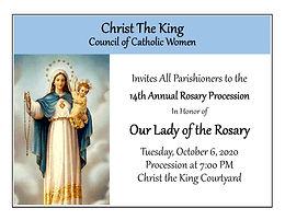 14th Annual Rosary Procession