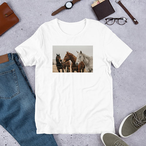 Tongue Out Horse Short-Sleeve Unisex T-Shirt